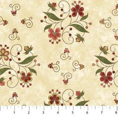 1 yard Mulberry Lane by Sue Beevers for Northcott Fabrics