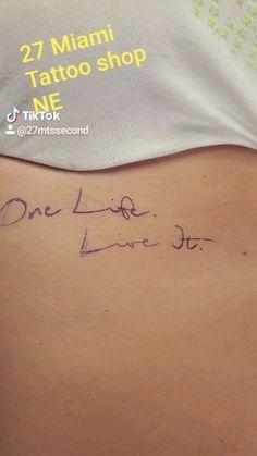 #miami #tattoochallenge #onelife #fucku #ThousandDollartattoo Miami Tattoo, Tattoo Videos, One Life, Tattoo Shop, Fitness Goals, Body Art Tattoos, Tattoo Quotes, Ideas, Thoughts