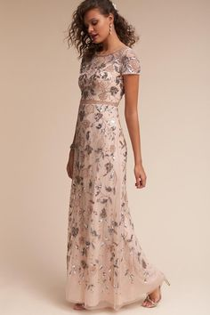 "BHLDN's Neo-Bohemian Wedding Dresses — 2017 ""Oasis"" Bridal Collection - Woman Casual Mother Of The Bride Dresses Long, Mother Of Bride Outfits, Mothers Dresses, Long Mothers Dress, Women's Dresses, Bridesmaid Dresses, Bhldn Dresses, Beaded Dresses, Fitted Dresses"