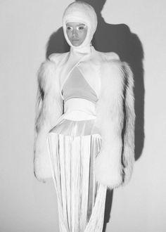 Josephine Skriver, Backstage at Mugler, Paris Fall 2012