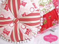 Happy Holidays with FreeSpirit & Rowan: Pinwheel & Pom Pom Pillow | Sew4Home