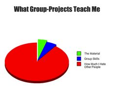 Now that I am starting back to school this is relevant.  What group projects teach me...