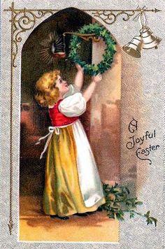 Vintage Christmas Postcard: A Joyful Easter  | Flickr - Photo Sharing!