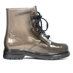 Black Metallic Rain Boots   Danice Stores