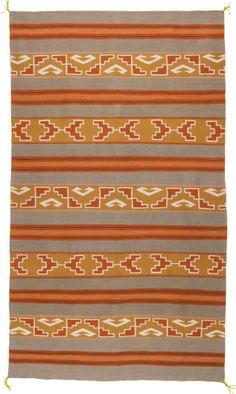 American Indian Art:Weavings, A NAVAJO REGIONAL RUG. Crystal. c. 1960...