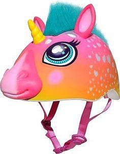 Raskullz Super Rainbow Unicorn Hair Dark Pink Bike Helmet, Child Image 1 of 6 Unicorn Bike, Unicorn Hair, Unicorn Eyes, Baby Unicorn, Unicorn Gifts, Rainbow Corn, Rainbow Bike, Christmas Village Sets, Kids Helmets