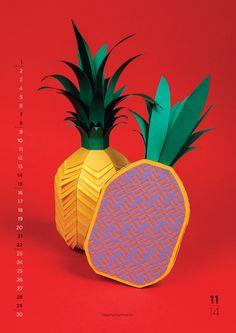 Kleurrijke papieren kalender van fruit - EYEspired
