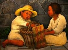 Diego Rivera, famous and husband of Frida Kahlo had contributed a lot in the world of art. Here is one of his brilliant paintings' masterpiece reproduction. Frida E Diego, Frida Kahlo Diego Rivera, Diego Rivera Art, Latin Artists, Mexican Artists, Famous Artists, Statues, South American Art, Mexican American