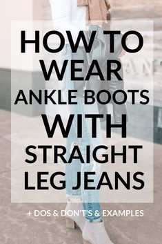 How to Wear Ankle Boots With Straight Leg Jeans - Straight A Style Today's post is all about how to wear ankle boots with straight leg jeans including multiple examples, dos and don't's, easy styling tips, and close ups. Ankle Boots With Jeans, How To Wear Ankle Boots, Short Ankle Boots, Over Boots, Ankle Boot Outfits, Jeans Outfit Winter, Fall Winter Outfits, Summer Outfits, Winter Style