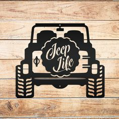 This Jeep Life Metal Sign is the perfect gift for any Jeep lover. Makes the perfect addition to any garage or man cave. This sign is made from 16 gauge steel with a powdercoated finish for a long lasting sign indoors or outdoors. PLEASE REFER TO THE COLOR KEY PICTURE IN THE LISTING BEFORE ORDERING. BARE METAL DIY IS RAW AND NOT SEALED WITH THE POTENTIAL FOR RUSTING IF NOT SEALED AFTER PURCHASE. Shipping is generally 3-5 days from the date order was placed. Due to the start of the Holiday… Metal Art Decor, Metal Wall Art, Jeep Tattoo, Sheet Metal Art, Jeep Decals, Man Cave Signs, Jeep Accessories, Chevy Chevrolet, Wood Cutouts