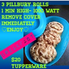Easy way to enjoy muffins or yummy cinnamon rolls! Love your Tupperware http://katiegregg22.mytupperware.com/