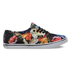 Authentic Lo Pro Floral   Shop Womens Shoes at Vans they're so pretty!!!