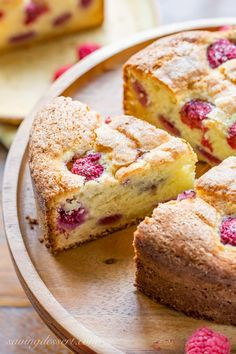 A deliciously moist and fluffy, berry-streaked breakfast (coffee) cake perfect for dessert, breakfast, brunch, or afternoon tea.