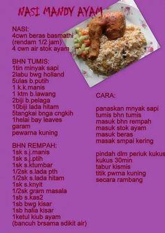 Nasi mandy ayam Arabian Food, Rasa Malaysia, Indonesian Cuisine, Nasi Goreng, Malaysian Food, Savoury Dishes, Rice Recipes, Cookie, Salad