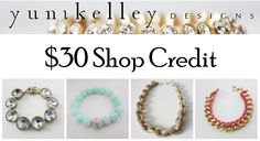 $30 shop credit to YuniKelley designs from Kacie's Kloset!