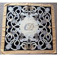 Christian Dior Classic Pearls & Diamonds Vintage Silk Scarf