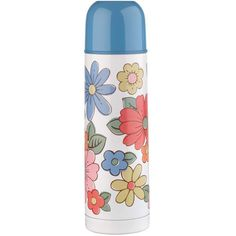 Keep hot refreshments to hand while you're out and about with this stylish Cath Kidston Petal print Thermos flask, with a screw cap lid that doubles up as a mug and an easy to pour spout. Comes in beautiful Cath Kidston gift box.  MATERIALS: Stainless steel with painting. SIZE: D7.8cm x h.28cm. VOLUME: 750ml  Hand Wash Only
