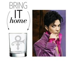 """""""Bring It Home: In Memory of Prince Sandblasted Rock Glass"""" by polyvore-editorial ❤ liked on Polyvore featuring interior, interiors, interior design, home, home decor, interior decorating, prince and bringithome"""