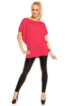 Ce culoare te prinde cel mai bine? Tunica Daniela - Astratex.ro Fes, Leather Pants, Dresses For Work, Outfit, Casual, Women, Fashion, Diapers, Kleding