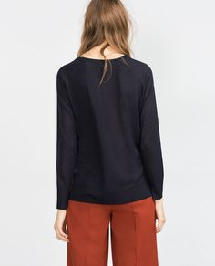 Image 4 of SWEATER WITH SIDE SLITS from Zara