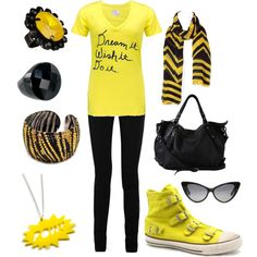 Hufflepuff. Except without the legging/skinny jean things