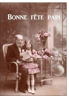 Carte Carte ancienne bonne fête papi pour envoyer par La Poste, sur Merci-Facteur !