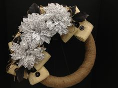 Dahlia Journal Burlap Wreath Spring and Home Collection 2013 Designed by Christian Rebollo