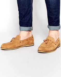 Image 1 ofFrank Wright Suede Tassel Loafers In Tan