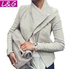 Новый 2015 пу кожаная куртка женщин осень зима тонкий молния мотокуртки женской верхней одежды пальто вершины для женской одежды 50052(China (Mainland))