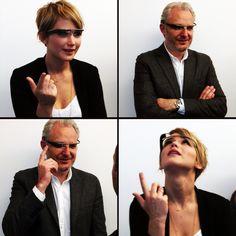 Jennifer Lawrence and Francis Lawrence try Google Glass on Global Fan Day: http://www.panempropaganda.com/movie-countdown/2013/11/6/jennifer-josh-liam-and-francis-try-out-google-glass.html