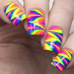 Amazing watermarble nails by @lacquerandspice using Pure Color 7 watermarble…