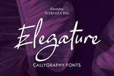 Elegature was created using a thin pen. This gorgeous script radiates authenticity, and will effortlessly add a charming vibe to. Handwritten Script Font, Script Type, Typography Fonts, Lettering, Book And Magazine, Wedding Card Templates, Modern Fonts, Label Design, Graphic Design