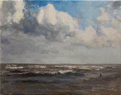 "Daily Paintworks - ""61st at Seawall"" by Randall Cogburn"