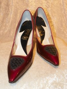 a55c9bc09a7 Shoes in Deep Ruby by Life Stride Patent by DownInTheBasement Candy Apple  Red