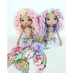 { ANAHITA & BINDA } • Orders being sent every day this week, including these girls  . . . #mermaiddecor#upperdhali#handmadedolls#childrensdecor#keepsakedoll#dollartist#girlsdecor#decorforkids#customdoll#girlsroominspo#mermaiddoll#artdoll#handmadedoll#keepsake#textileart#dolldecor#dolldesigner#bespoke#heirloomdoll#underthesea#dollcollector#kawaiistyle#handmadeinaustralia#dollmaker#celebratehandmade#handmadedolls#clothdoll#mermaidlife#shopsmall