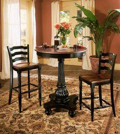 Indigo Creek Round Pedestal Pub Table | Hooker Furniture | Home Gallery Stores