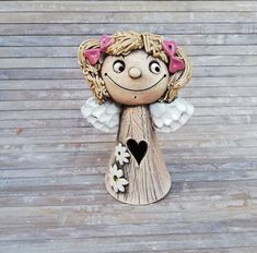 Ceramic Angels, Ceramic Figures, Ceramic Clay, Handicraft, Tea Lights, Great Gifts, Teddy Bear, Animal Themes, Handmade