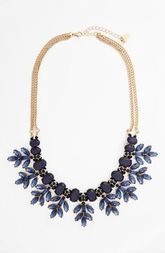 Tasha Natasha Couture Crystal Leaf Statement Necklace available at #Nordstrom