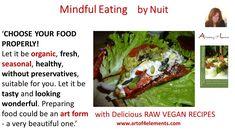 Mindful Eating by Nuit Quotes, Chose your Food Properly. #MindfulEating #Book