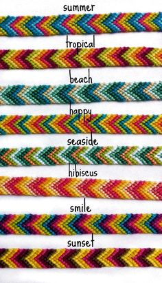 Colorful Chevron Friendship Bracelets (limited time) Rainbow Ombre Chevron Friendship BraceletsSummer is the perfect time to wear colorful clothes…Summer Bracelets / Beaded Bracelets with Words / DIY…Chevron bracelet. Chevron Armband, Bracelet Chevron, Friendship Bracelets Tutorial, Diy Friendship Bracelets Patterns, Bracelet Tutorial, Diy Friendship Bracelets Chevron, String Bracelet Patterns, Friendship Jewelry, Macrame Tutorial