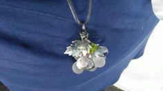 #silverpendant with muranoglass