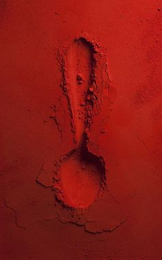 Red spoon, photography Paul Burch.