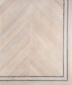 Chevron Blanche White Oil 2-line Wenge border