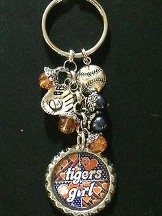 Detroit Tigers Inspired Keychain Orange and Blue Handmade Detroit Sports, Detroit Tigers Baseball, Detroit Lions, All About Tigers, Tiger Love, Tiger Tiger, Charm Braclets, Thing 1, Mlb Teams