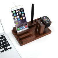 Apple Watch Stand de Madera Wood, Rosewood Charge Dock Soporte para Apple Watch & Docking Station Cradle Bracket para iPod iPhone iPad & Otros Smartphones y Tablets Apple Iphone 6, Iphone 7, Iphone Stand, Car Office, Office Phone, Galaxy Note, Apple Watch Ipad, Wooden Ipad Stand, Ipod