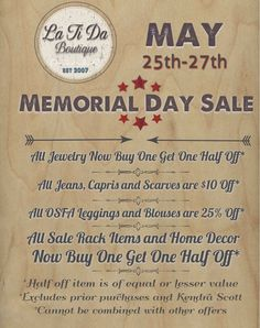 Here is our in store #memorialday #sale @latida_boutique see you soon 🇺🇸🇺🇸🇺🇸