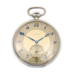 Longines pocket watch 14 ct gold via MarCels. Click on the image to see more!