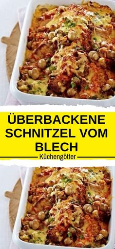 Zutaten 400 g Champignons 2 Zwiebeln 4 Schweineschnitzel (à ca. 120 g) Salz 2 E. Beef Meatloaf Recipes, Meatloaf Recipe With Cheese, How To Cook Meatloaf, Classic Meatloaf Recipe Easy, Meatloaf With Oatmeal, Food Network Recipes, Easy Meals, Healthy Recipes, Drinks