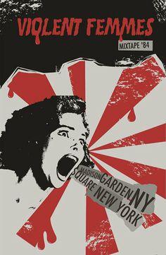 Violent Femmes MixTape'84 poster by MixTape-84