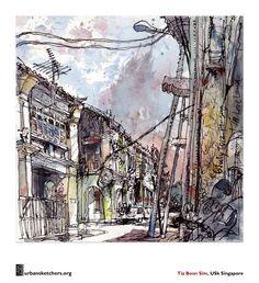 Urban Sketchers - no straight lines! I love it